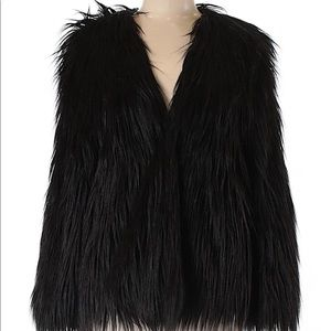Urban Outfitters Black Faux Fur Size L
